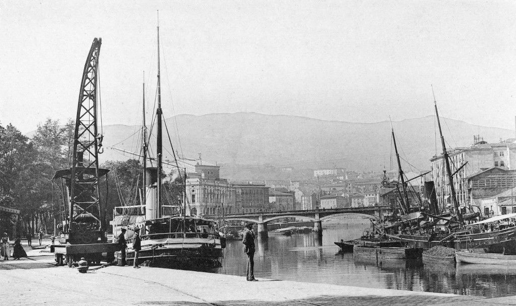 Muelle del Arenal (Bilbao, 1891). Fuente: http://www.biscayenne.com/